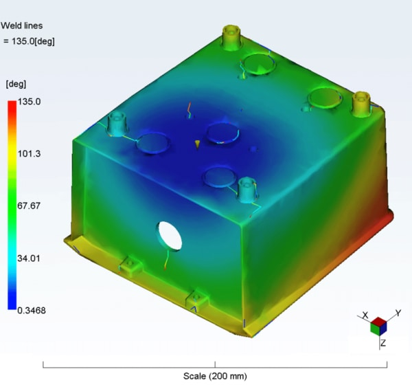 Moldflow analysis