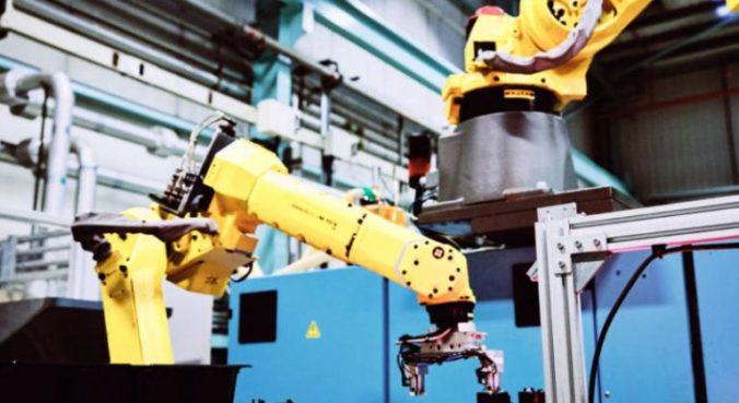 Robot on machine