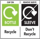 Don't Recycle, Remove Sleeve/Film symbol