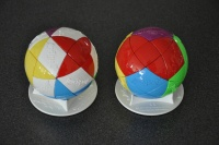 Used 5 Injection Moulds To make round Puzzle Ball similar to Rubiks Cube