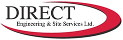 Direct Engineering logo - plastic material pipework installation company